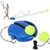 Fostoy Tennis Trainer, Tennistrainer Set Trainer Baseboard mit 2 Rebound Ball, Selbststudium Übungs-Trainingswerkzeug Tennistrainingsausrüstung für Solotraining Erwachsener (Blau, 2Bälle)