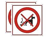Andchi Teile sauber nach Hund Warnschild, kein Verstopfungsschild, Metall Aluminium quadratisches Schild, Größe 300x300mm