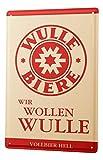 LEotiE SINCE 2004 Blechschild Dinkelbräu Dinkel Acker Wir wollen Wulle Bier Vollbier Starkbier Hell Pils Weizen Alt Werbung n rot 20x30 cm Wohnungsdeko Dekoschild Nostalgie