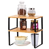 LIANTRAL 2er-Set Regaleinsatz für Küchenschrank | Küchenregal Organizer, Erweiterbare und Stapelbare Arbeitsplatte Organizer Regal, Gewürzdosen Flaschenregal