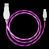 WMD AYCD-LED-Fließleuchte 1m USB A zu Micro USB-Daten-Sync-Ladekabel für Smartphones (grün) (Color : Magenta)