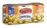 La Española - Gefüllte Omega-3-Oliven mit Sardellen - Ideal zum Bier oder Wermut - Dose mit 150 Gramm netto