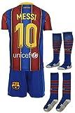 Barcelona Messi 2019/2020 Heim Trikot und Shorts mit Socken Kinder und Jugend Größe (128)