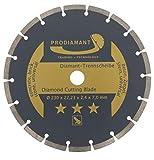 PRODIAMANT Diamant-Trennscheibe universal 230 x 22,2 mm Beton, Stein, Ziegel 230mm Diamantscheibe 7mm Seg