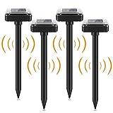 4 Stück Solar Maulwurfabwehr, Mole Repellent, Ultrasonic Solar Maulwurfschreck, Maulwurfbekämpfung, Wühlmausschreck, Schädlingsbekämpfung mit IP65 für Den Garten