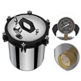 Jarchii Dampfsterilisator, AU Plug Edelstahl-Doppelheizdruck-Dampfautoklaven-Sterilisator-Ausrüstung für Sterilisationsinstrumente Glaswaren Gummiproduk