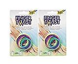 folia 33177 Finger Twist Fadenspiel, in Trendiger Regenbogen-Optik, ca. 160 cm lang, Fingerspiel für Jungen und Mädchen ab 5 Jahre, ideal als kleines Geschenk, Mitgebsel und für den Schulhof (2)