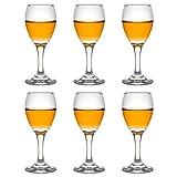 Libbey Schnapsglas Teardrop Sherry - 90 ml / 9 cl - 6 Stück - Sherryglas - Portweinglas - mit Fuß - spülmaschinenfest - hohe Qualität