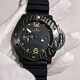 HHBB Luxuriöse Herren-Armbanduhr, automatisch, mechanisch, Saphir, Edelstahl, schwarze Keramik-Gummi-Uhr, limitiert leuchtend, AAA+.
