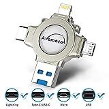Avomoco USB-Speicherstick, 256 GB, für iPhone & iPad und Android-Handys, Typ-C-Geräte, Tablets. Foto-Speicher für iPhone & iPad Samsung Galaxy, LG, Google, Hua Wei, Pixel (256 GB)