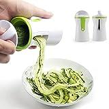 Spiralschneider 3 in1 Gemüseschneider Spiralschneider Hand Gemüsehobel Gemüsenudeln Schneider für Karotte Gurke Kartoffel Gemüsespaghetti
