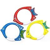 Tauchen Spielzeug, Sommer Unterwasser Spaßspielzeug Tauchring Tauchen Schwimmbad Spielzeug für Kinder Jungs Mädchen Schwimmbad Pool