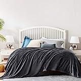 BEDSURE Decke Sofa Kuscheldecke dunkelgrau - XXL Fleecedecke für Couch weich und warm, Wohndecke flauschig 220x240 cm als Sofadecke Couchdecke