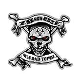 ZCZWQ Off Road Towing Schädel Knochenabziehbilder Bio-Gefahren Lustige Auto Aufkleber wasserdichte Sonnencreme Bumper Zubehör Vinyl, 13cmx12 cm Sticker