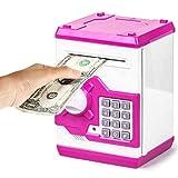 Mowtom Spardose mit Passwort Sparschwein Gelddose, Elektrische Sparbüchse für Kinder Mini ATM Münze Bank Money Saving Box Geschenke