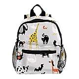 Schultasche Damen Gans Giraffe Kuh Backpack Rucksack für Kinder Rucksack Kinder Schultaschen für 3-8 jährige Kinderrucksack Kindergarten/Rucksack Kinder 25.4x10x30 cm