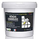 Putz für Fliesen - Fliesen verputzen - Betonbeschichtungs-Effekt - RENOVE CARRELAGE - Kohle - Kit 10kg - 6.5m² für 2 Schichten