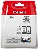 Canon Tintenpatronen PG-545 + CLI-546 BK/C/M/Y Multipack schwarz + Farbe 8ml + 9 ml ORIGINAL für PIXMA Drucker