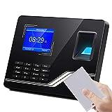 coldwind Biometrische Fingerabdruck Anwesenheit Maschine LCD Display Fingerabdruck Anwesenheit System Zeit Uhr Mitarbeiterprüfung-in Recorder Black-Portugiesisch