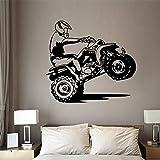 Motocross Wandaufkleber Kunst DIY Schlafzimmer Boy Room Motocross Bike Motocross Bike Wandtattoo Vinyl Home Decor Wandaufkleber A6 46x42cm