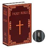 Jssmst Buchtresor mit Zahlenschloss, Secrect Hidden Safe Lock Box Large, SMBS019 Holy Bible