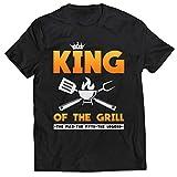 lepni.me Männer T-Shirt König des Grills Meister BBQ Chef Der Mann Der Mythos Die Legende (4XL Schwarz Mehrfarben)
