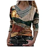 MRULIC Damen Kurzarm T-Shirt Rundhals Ausschnitt Lose Hemd Pullover Sweatshirt Oberteil Tops(S2-Gelb,EU-40/CN-L)