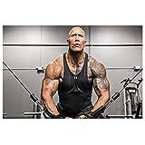Lomoko Dwayne Johnson The Rock Gym Workout Tattoo Poster Malerei Leinwand Wandkunst Druck auf Leinwand Bilder für Wohnzimmer Dekor 50x70cm ungerahmt