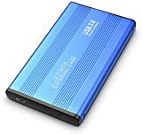 Externe Festplatte, 2 TB, tragbar, USB 3.0, für PC, Laptop, Mac, Chromebook, Smart TV (2 TB, Blue)