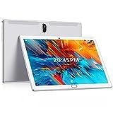 Tablet 10 Zoll FEONAL Android 10 Tablet PC, 1080P FHD IPS, Mit 2 SIM Slot 4GB RAM+64GB ROM, 128GB Erweiterung, 6000mAh Akku, Octa-Core 1.6Ghz, 4G LTE Dual SIM   Wi-Fi   GPS   Bluetooth - Silber