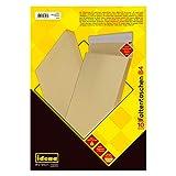 Idena 346096 - Faltentasche B4 haftklebend ohne Fenster, 4 cm Boden, 10 Stück, b