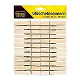 Idena 63133 Wäscheklammern aus Holz, 24 Stück, ca. 7,3 cm lang, zur Fixierung von Kleidung auf der Leine und zum Basteln, Dekorieren und Verzieren