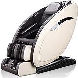 QQ HAO Multifunktionaler Smart Massage-Stuhl, 3D-Null-Schwerkraft - Wärmemassage Im Rücken, Erwachsener Massagestuhl,Weiß