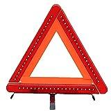 Skrskr Unfall Warndreieck LED Licht Auto Sicherheitsschild Sicherheitsdreieck Zusammenklappen Für Reparaturen Am Straßenrand, Geparkte Fahrzeuge, Baustellen Usw. (rot 40x38cm)
