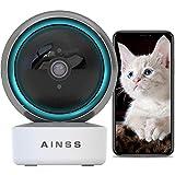 WLAN IP Kamera Babyphone Überwachungskamera Innen Arbeitet Mit Alexa 2.4Ghz WiFi Haustier Kamera Nachtsicht 1080P HD Automatische Verfolgung,2-Wege-Audio,Bewegungserkennung,iOS/Android 【Kamera+64G】