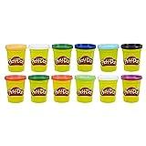 Play-Doh E4830F03 12er-Pack mit Spielknete in Grundfarben, 112g-Dosen in recycelbarer Verpackung, optimal für Schulen und Kindergärten, ab 2 J
