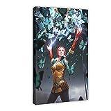 The Most Popular Game The Witcher 3 Wild Hunt Fiend Triss Hot Cool Canvas Poster Wall Art Decor Print Bild Gemälde für Wohnzimmer Schlafzimmer Dekoration 60 × 90 cm Rahmen style1
