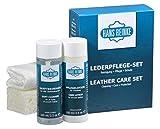 Hans Reinke Lederpflege Set 5-teilig für KFZ und Möbel | Aufbereitung | Innenraumpflege | Premium Produkt Deutscher Herstellung