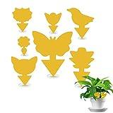 LOMYLM 70pcs Fliegenfalle Kit, Gelbtafeln Gelbsticker Fruchtfliegenfalle perfekt bekämpfen trauermücken, Blattläuse, Thripse, weiße Fliegen für Blumenerde Zimmerpflanzen zu Hause oder auf dem Balkon