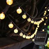 Solar Lichterkette Aussen 7M 50 LED Lichterkette Solar 8 Modi LED Glühbirnen Lichterkette IP65 Wasserdicht Außen Innen Weihnachten Lichterketten für Zimmer Garten Party Balkon Warmweiß Dekor Ulanox