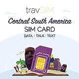 travSIM SIM-Karte (UK SIM-Karte) für 30 Tage gültig - 20GB Mobile Daten – Kolumbien Brasilien Nicaragua Panama Costa Rica Peru EL Salvador Guatemala Uruguay UK SIM-Karte