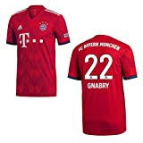 adidas FC Bayern MÜNCHEN Trikot Home Kinder 2019 - GNABRY 22, Größe:164