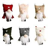 CHENGBEI Weihnachts-Zwerge, Dekoration, 6 Stück, schwedische Zwerge, Plüsch, handgefertigt, zum Aufhäng