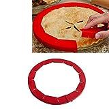 Einstellbare Pie Crust Schild, Bpa-frei Silikon, Rot, Passend Für 8.5inch - 11.5inch Rimmed Dish