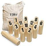Toyfel Tölky Indoor & Outdoor Wurfspiel aus Finnland – Schweden Schach aus FSC® Holz – Lustiges Holzwurfspiel Garten Outdoor Spielzeug für Kinder & Erwachsene