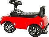 VW Rutscherauto rot, Babyrutscher mit Sound-Lenkrad und Staufach unter dem Sitz, Kinderfahrzeug