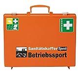 SÖHNGEN 0380015 Erste-Hilfe-Koffer Sport Betriebssport, ASR A4.3 (DIN 13157), orange, mit Wandhalterung aus Kunststoff, mit PRÜFPLAKETTE