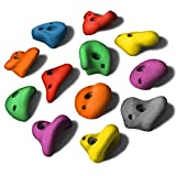 ALPIDEX 12 L Klettergriffe Klettersteine - Farbe:Mixed Colour