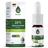 Med-Natura15% C-Active Natur Öl Tropfen 20ml |100% reines Naturprodukt•vegan•EU zertifizierter Anbau•hochdosiert und rein – made in DE - Prozent