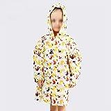 YWSZJ Cartoon-Regenmantel für Kinder, mit Kapuze, Kindergarten für Jungen, undurchlässiger Poncho für Schulranzen, Regenmantel für Kinder (Farbe: B, Größe: klein)